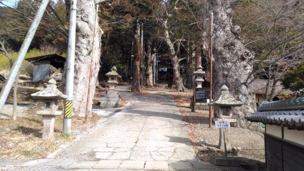 新海三社神社の参道