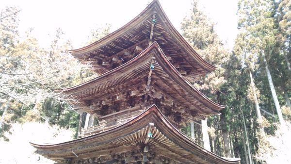 三重塔の見上げた図