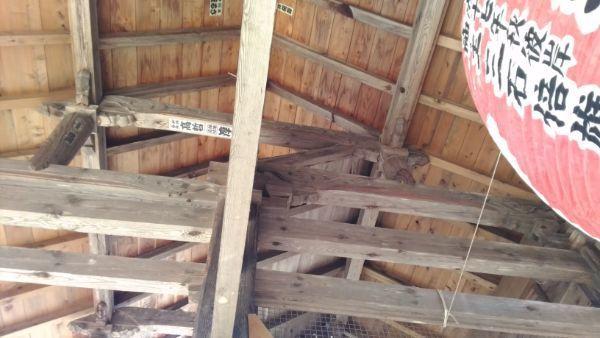 仁王門の屋根裏