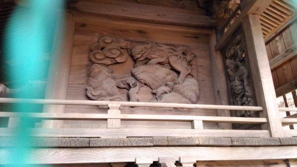 諏訪神社本殿右側面