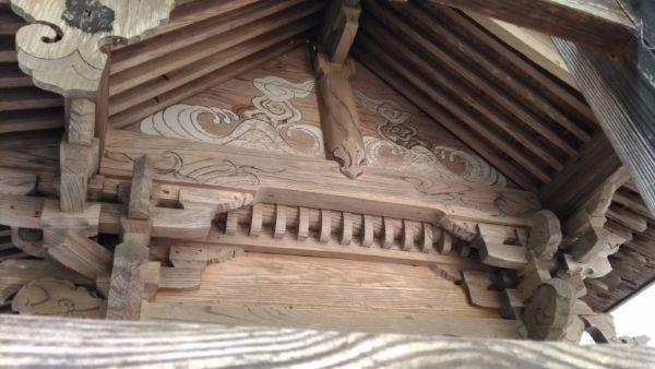 熊野神社本殿の背面