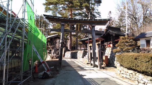 松原諏方神社の鳥居