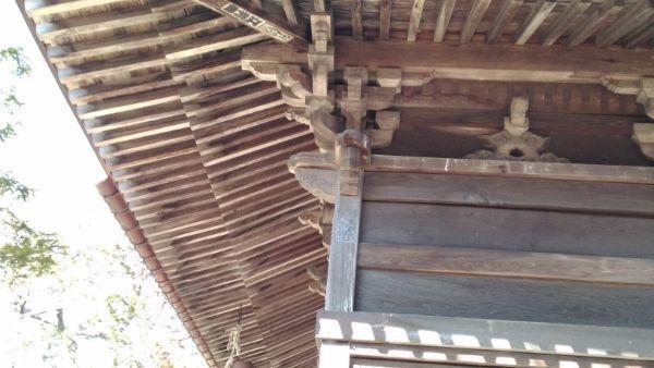 松原諏方神社拝殿の木鼻