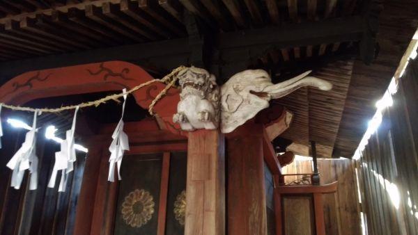 金峰山社本殿の木鼻