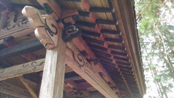 熱那神社随神門の軒下
