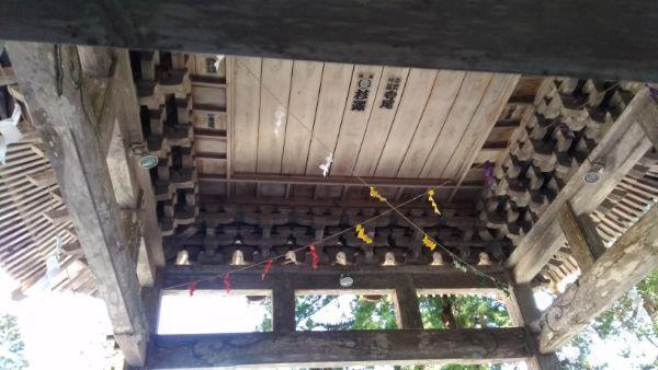 穂見神社神楽殿の内部