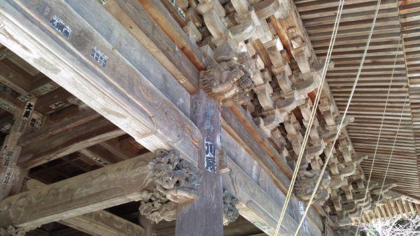 妙法寺三門の木鼻