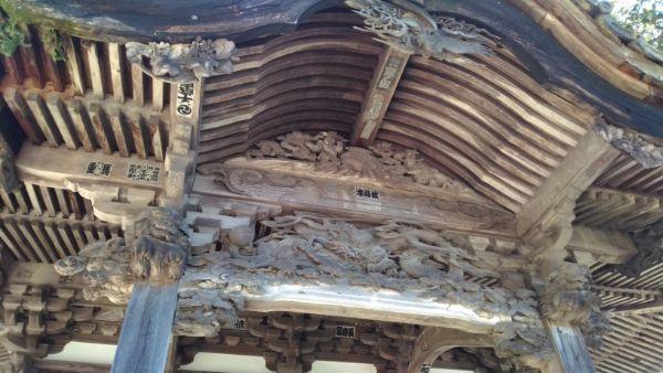 妙法寺仏堂の向拝