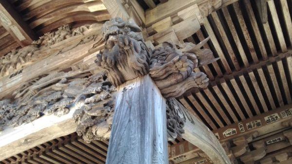 妙法寺仏堂の木鼻