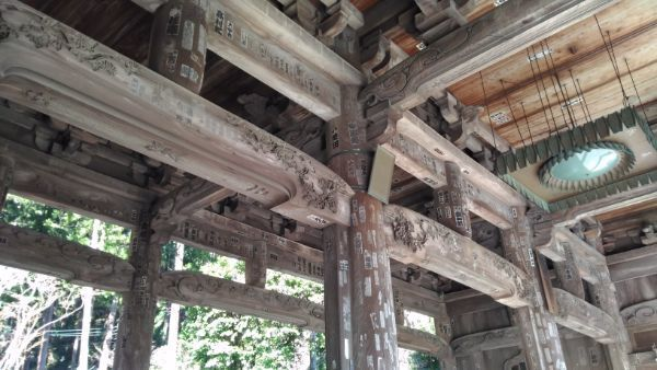 久遠寺三門の内部