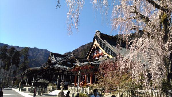 久遠寺の境内
