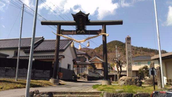 布制神社の鳥居