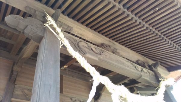 布制神社拝殿の向拝