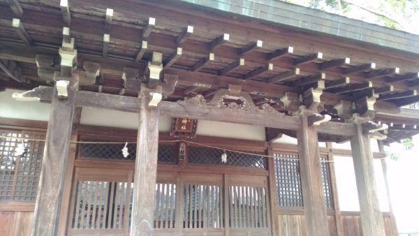治田神社拝殿の向拝