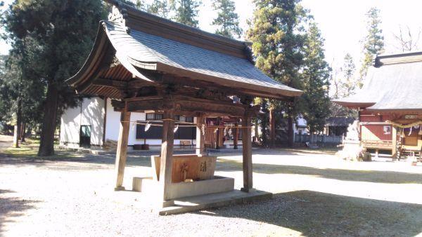 佐良志奈神社の手水舎