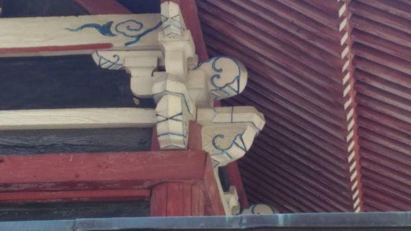 佐良志奈神社本殿の木鼻