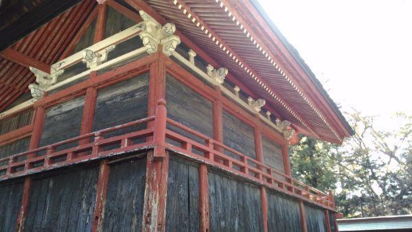 佐良志奈神社本殿の背面