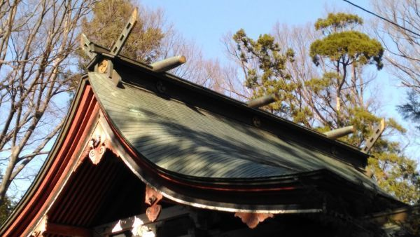 佐良志奈神社本殿の屋根