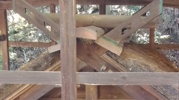 波閇科神社本殿の千木