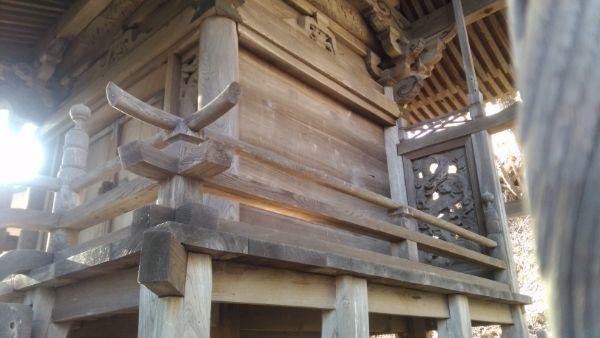白山比咩神社本殿の縁側と脇障子