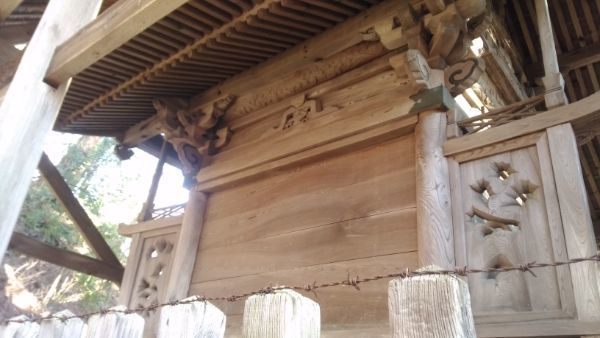白山比咩神社本殿の背面