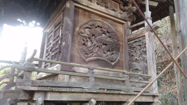 東條健代神社本殿の右側面