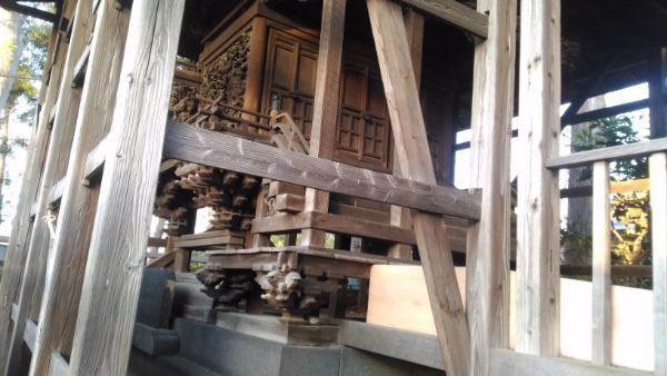 荒神宮本殿の母屋正面