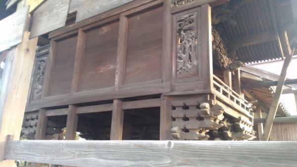 荒神宮本殿の背面
