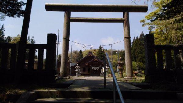 居多神社の入口