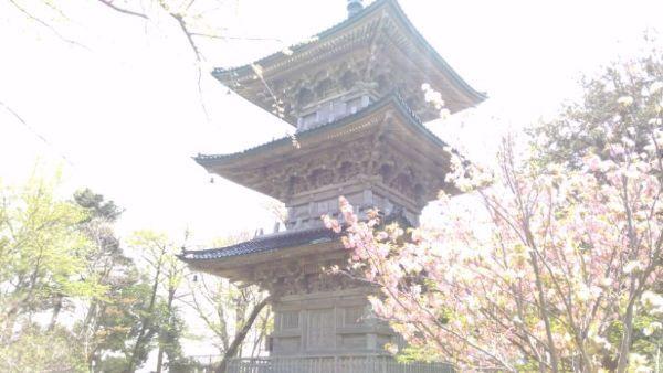 三重塔の全体図