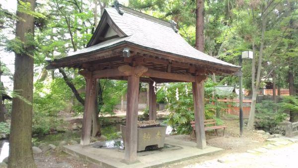 大井俣窪八幡神社の手水舎