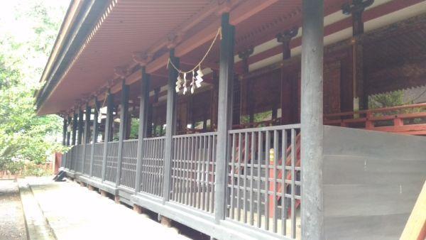 窪八幡神社本殿向拝
