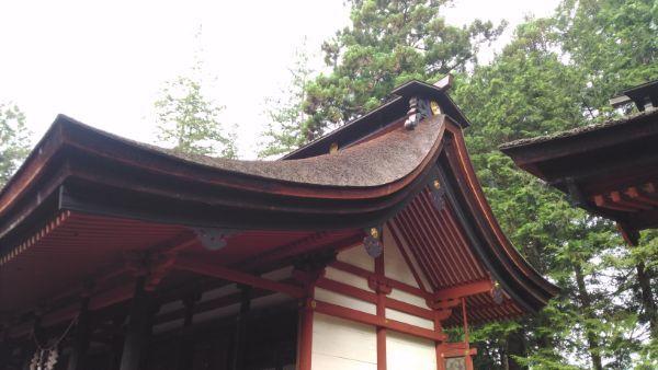 窪八幡神社本殿の側面