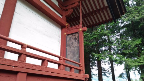 窪八幡神社本殿の脇障子