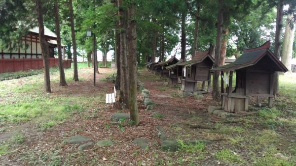 大井俣窪八幡神社の境内裏