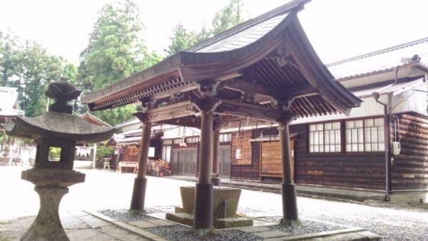 坂下神社手水舎