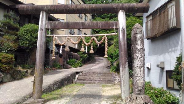 阿智神社前宮入口