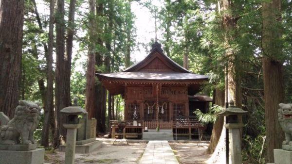 阿智神社前宮拝殿