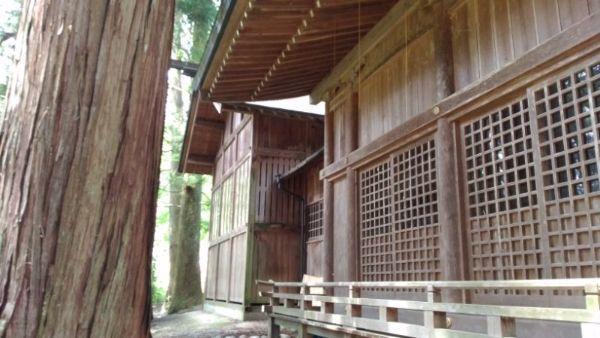 阿智神社前宮本殿覆い屋