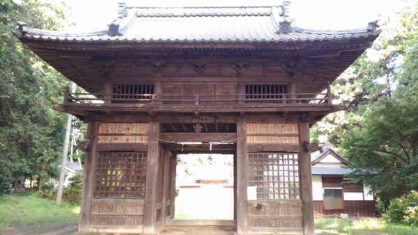 安曽神社随神門