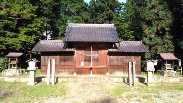 安曽神社拝殿