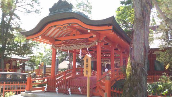 生島足島神社神橋