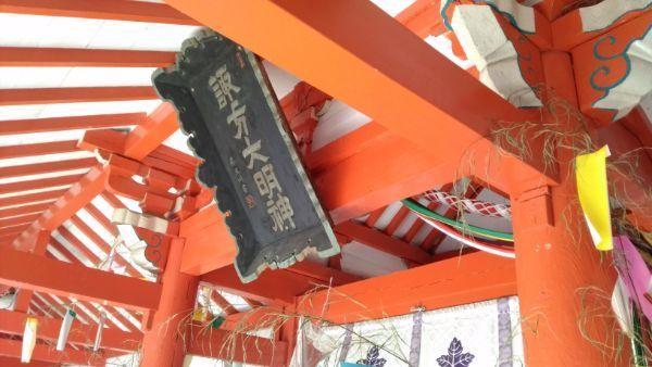 諏訪社の門の内部