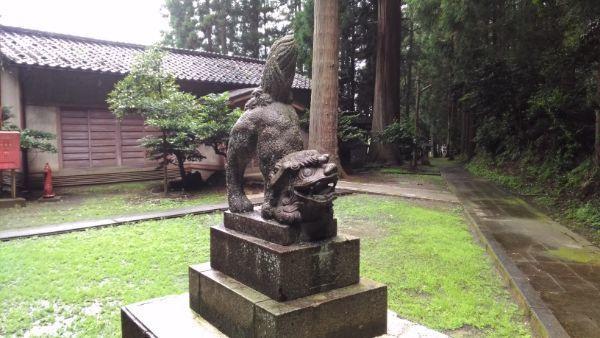 水上八幡神社狛犬