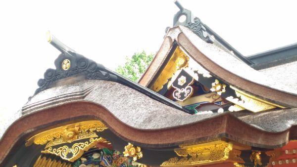 拝殿正面の破風