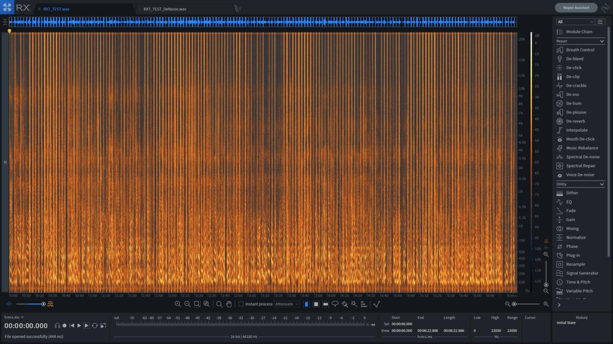 rx7ノイズ処理前のスペクトログラム