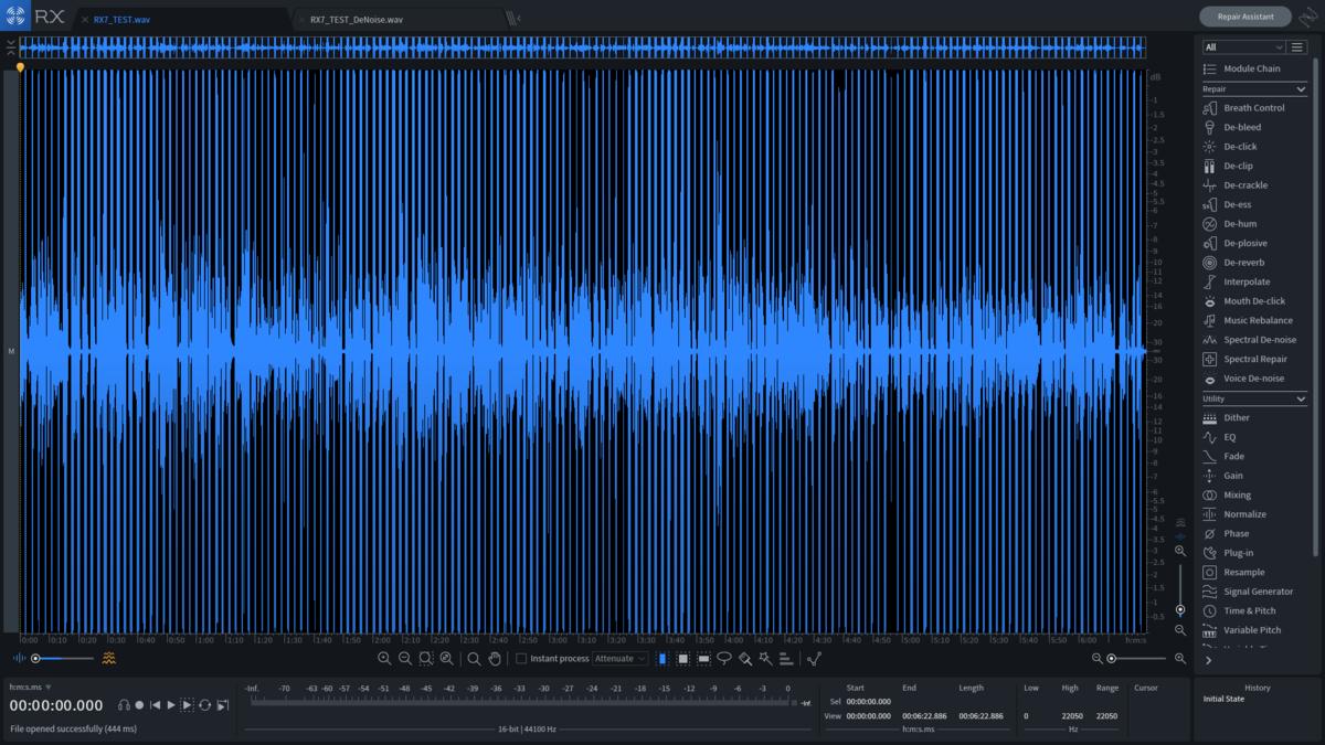 rx7ノイズ処理前の波形