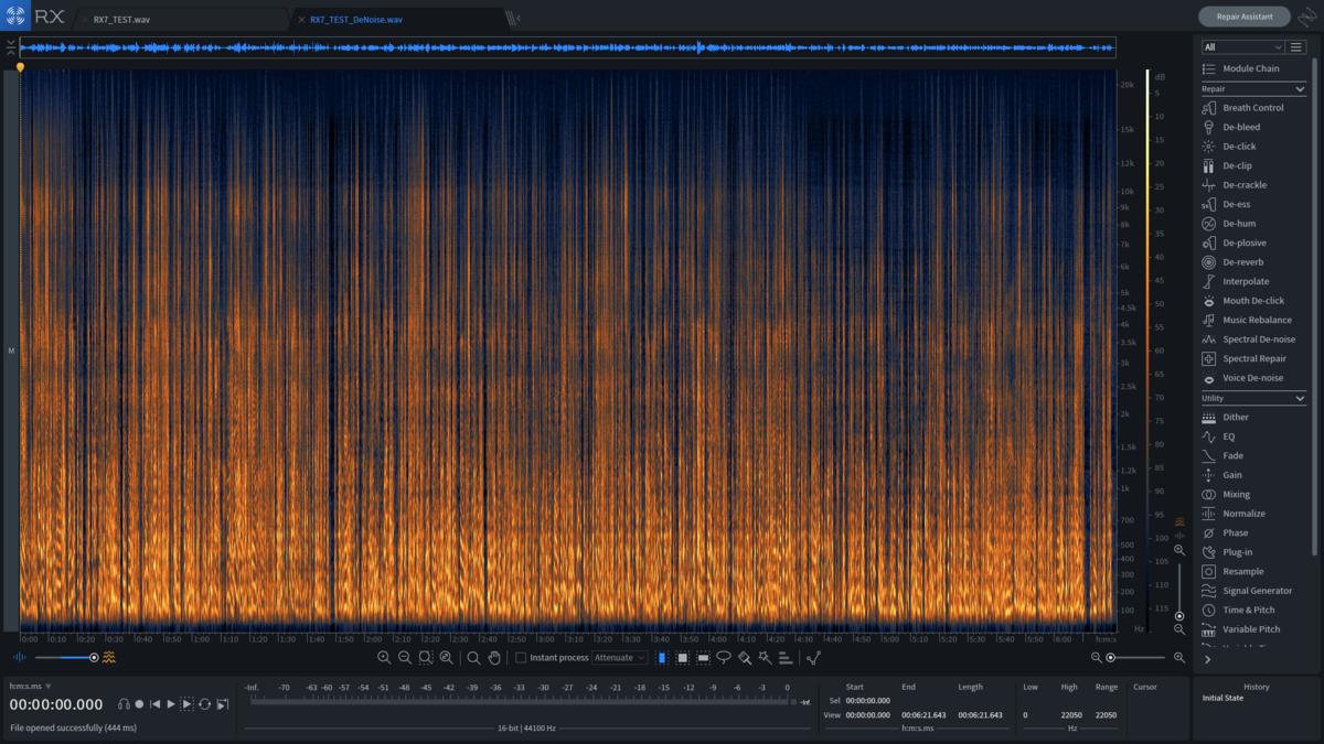 rx7ノイズ処理後のスペクトログラム
