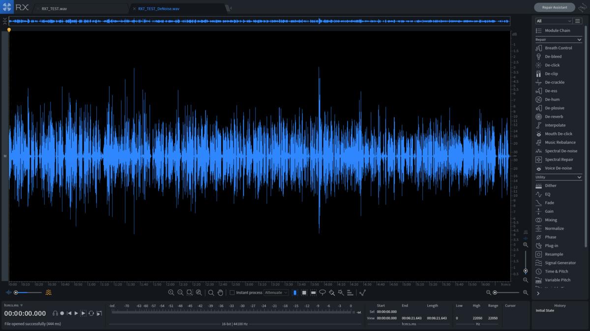 rx7ノイズ処理後の波形