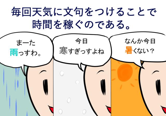 コミュ障の3大天気への文句